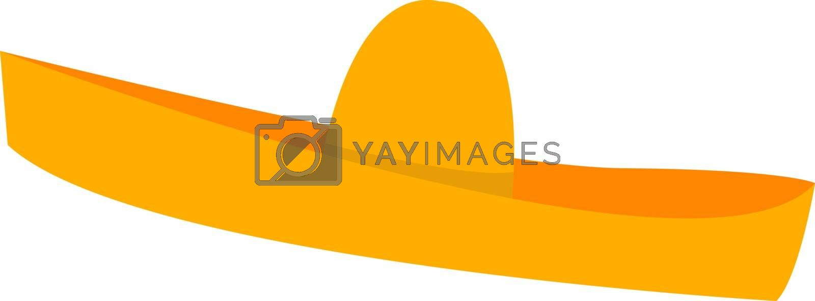 Mexican hat, illustration, vector on white background.