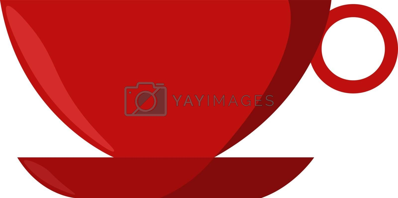 Red cup, illustration, vector on white background.