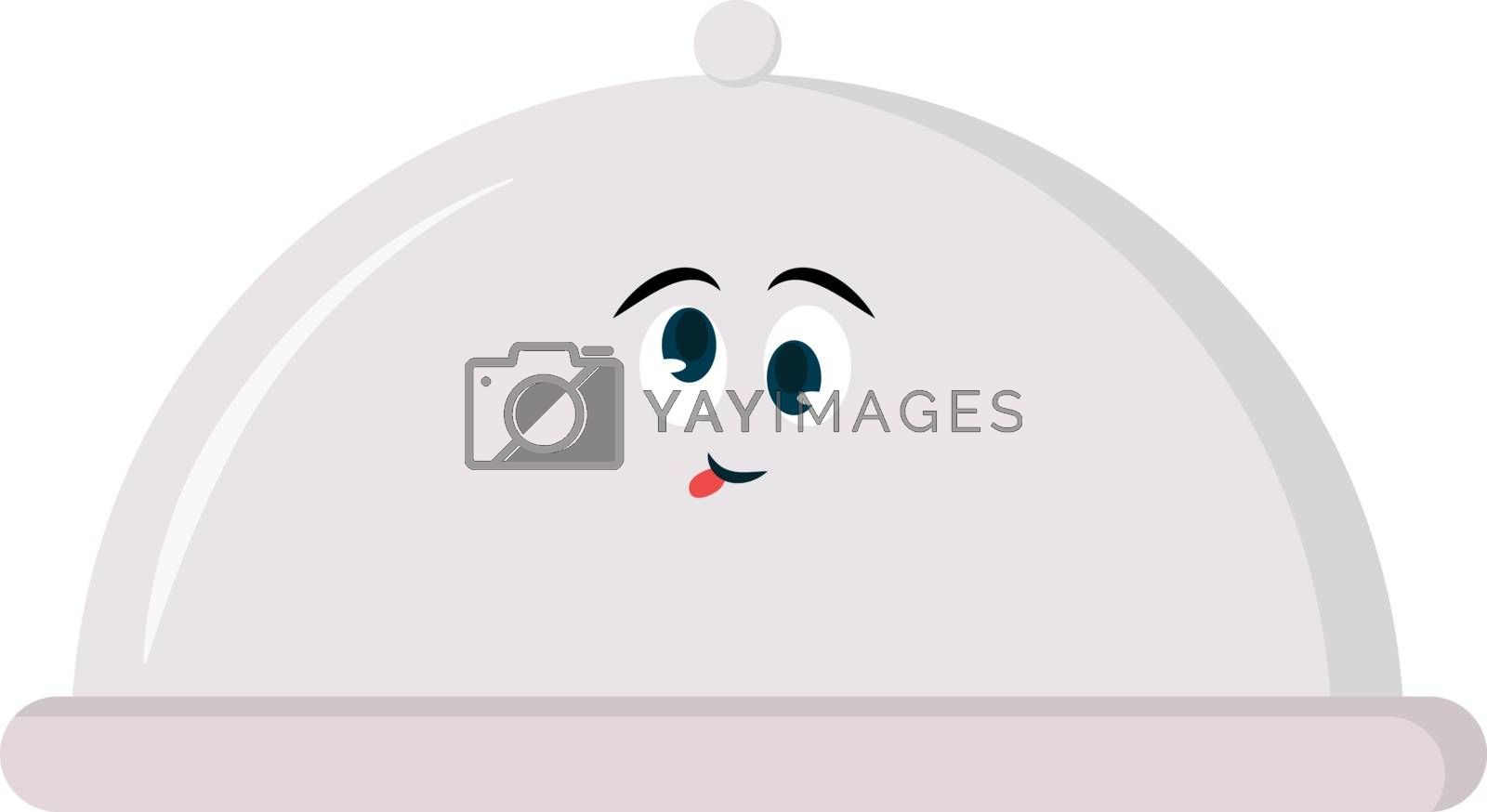 Serving tray lid, illustration, vector on white background.