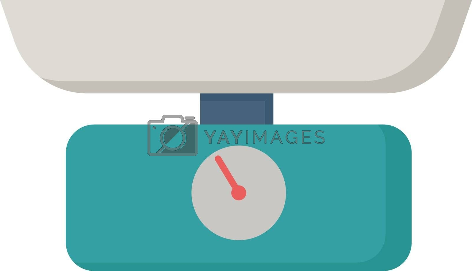 Weigh, illustration, vector on white background.