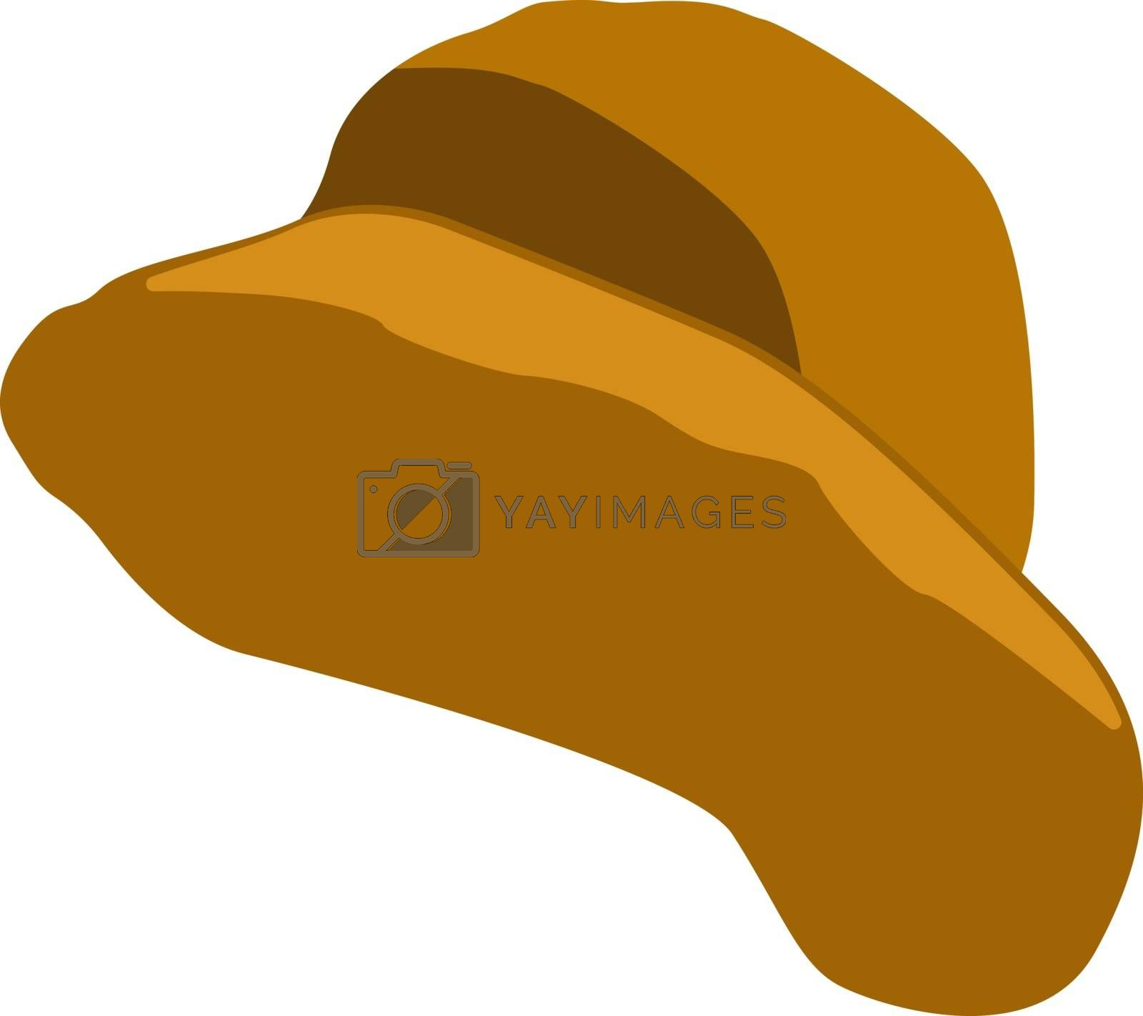 Yellow hat, illustration, vector on white background.