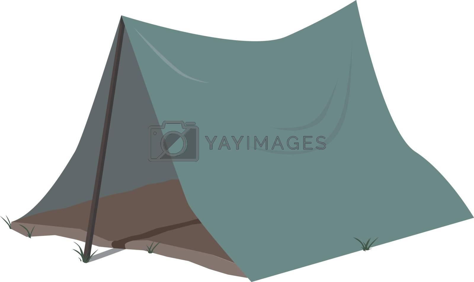 Tent, illustration, vector on white background.