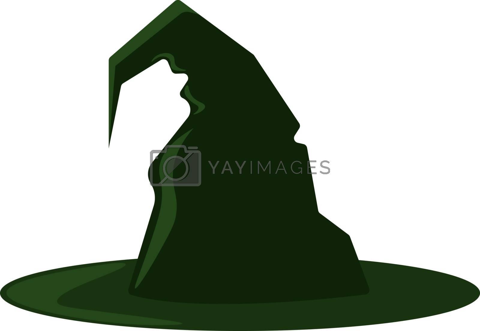 Green hat, illustration, vector on white background.