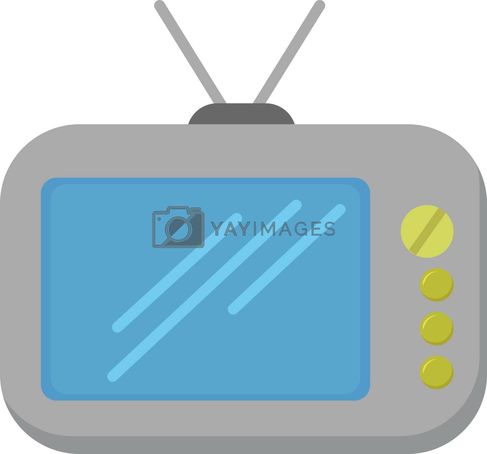 Retro Tv, illustration, vector on white background.