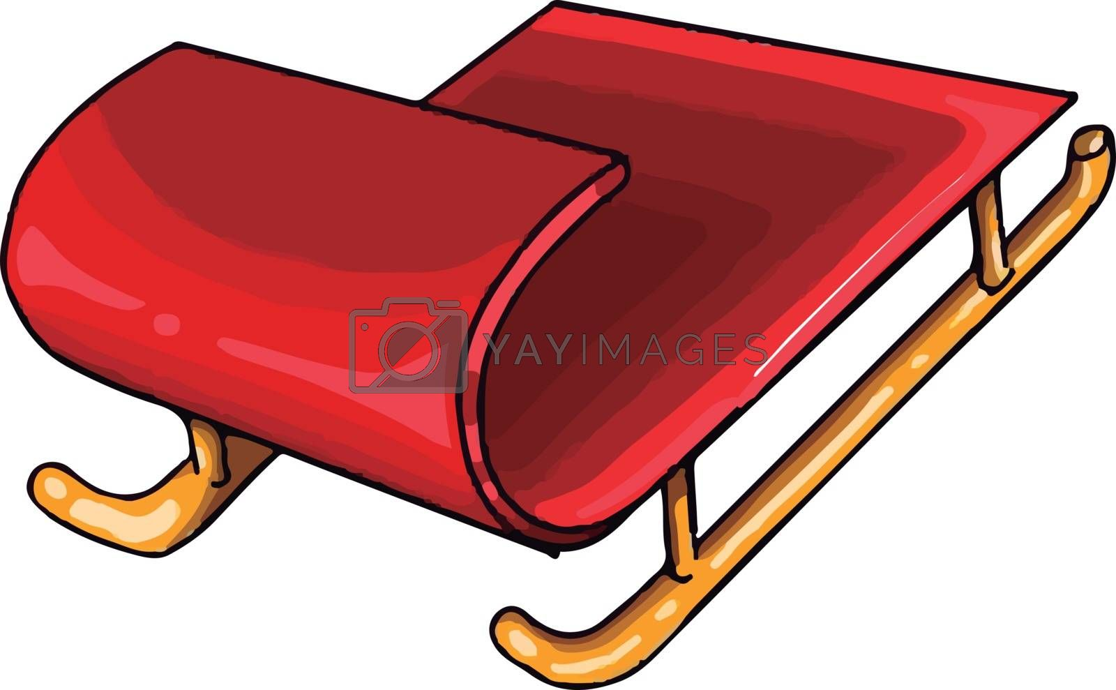 A small sledge, illustration, vector on white background. by Morphart