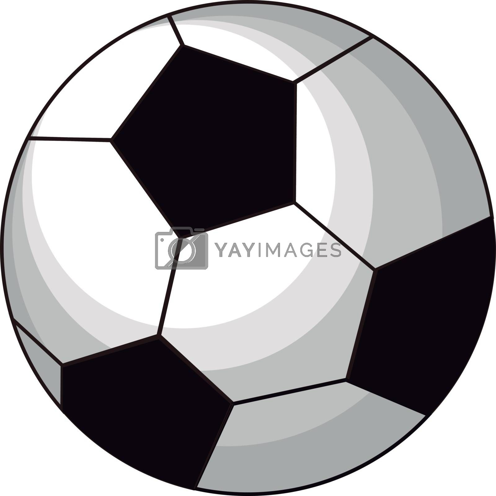 Football ball, illustration, vector on white background.