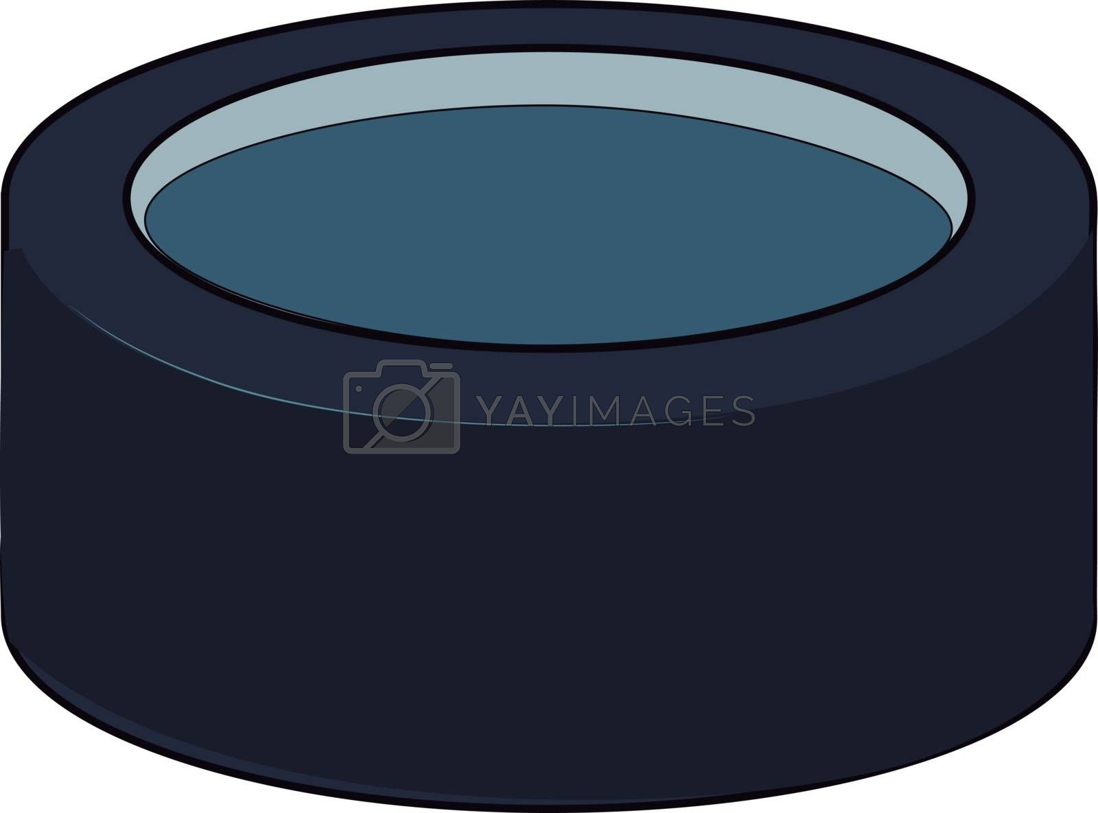 A good hockey puck, illustration, vector on white background. by Morphart