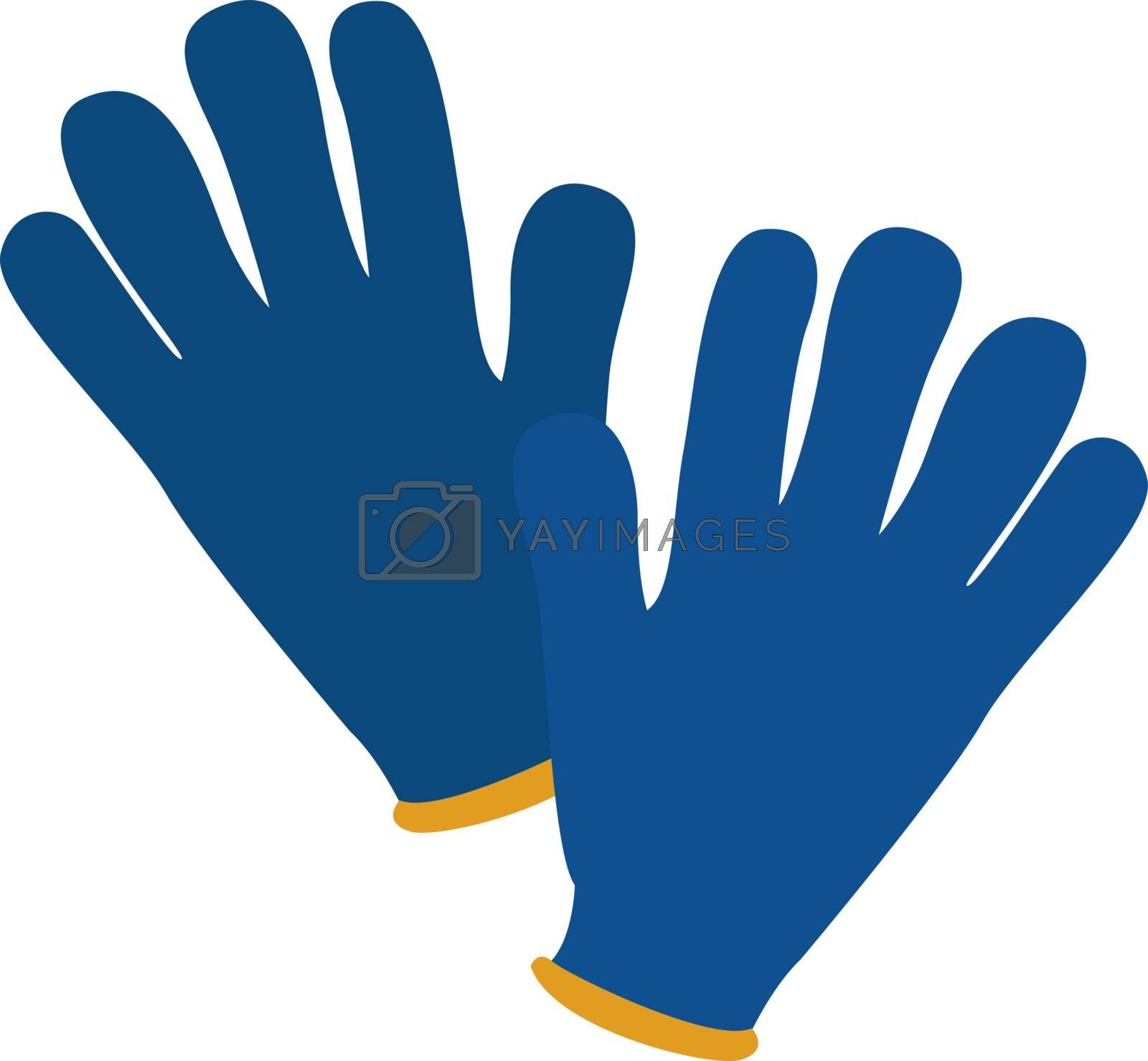 Winter gloves, illustration, vector on white background. by Morphart