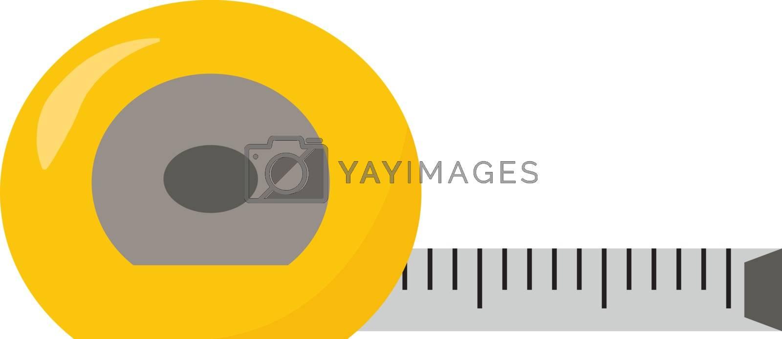 Tape measure, illustration, vector on white background. by Morphart
