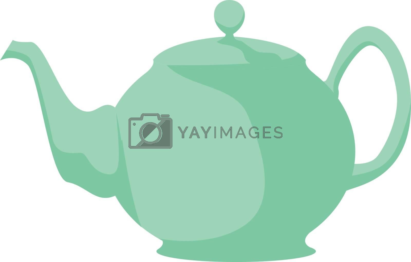 Teapot, illustration, vector on white background. by Morphart
