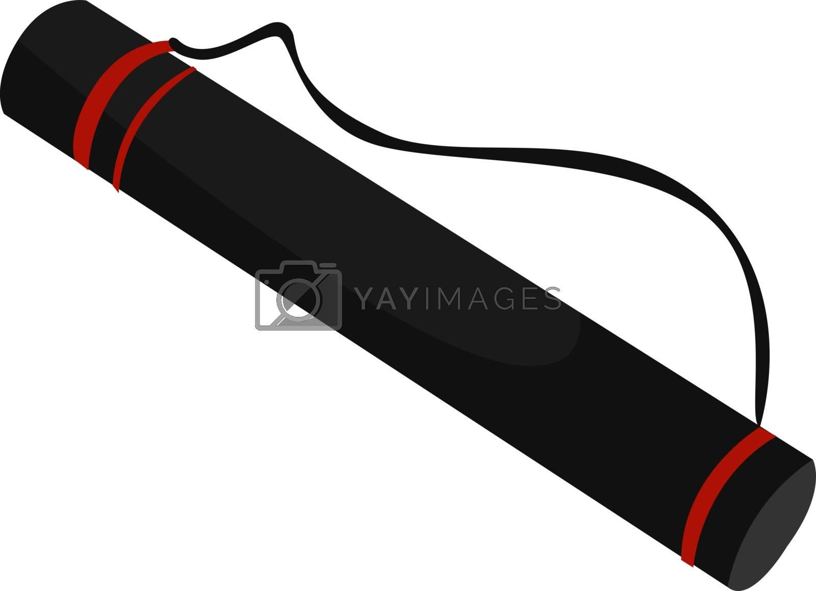 Black tube, illustration, vector on white background. by Morphart