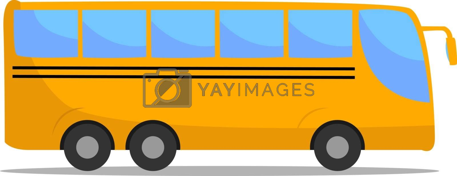 Yellow bus, illustration, vector on white background.