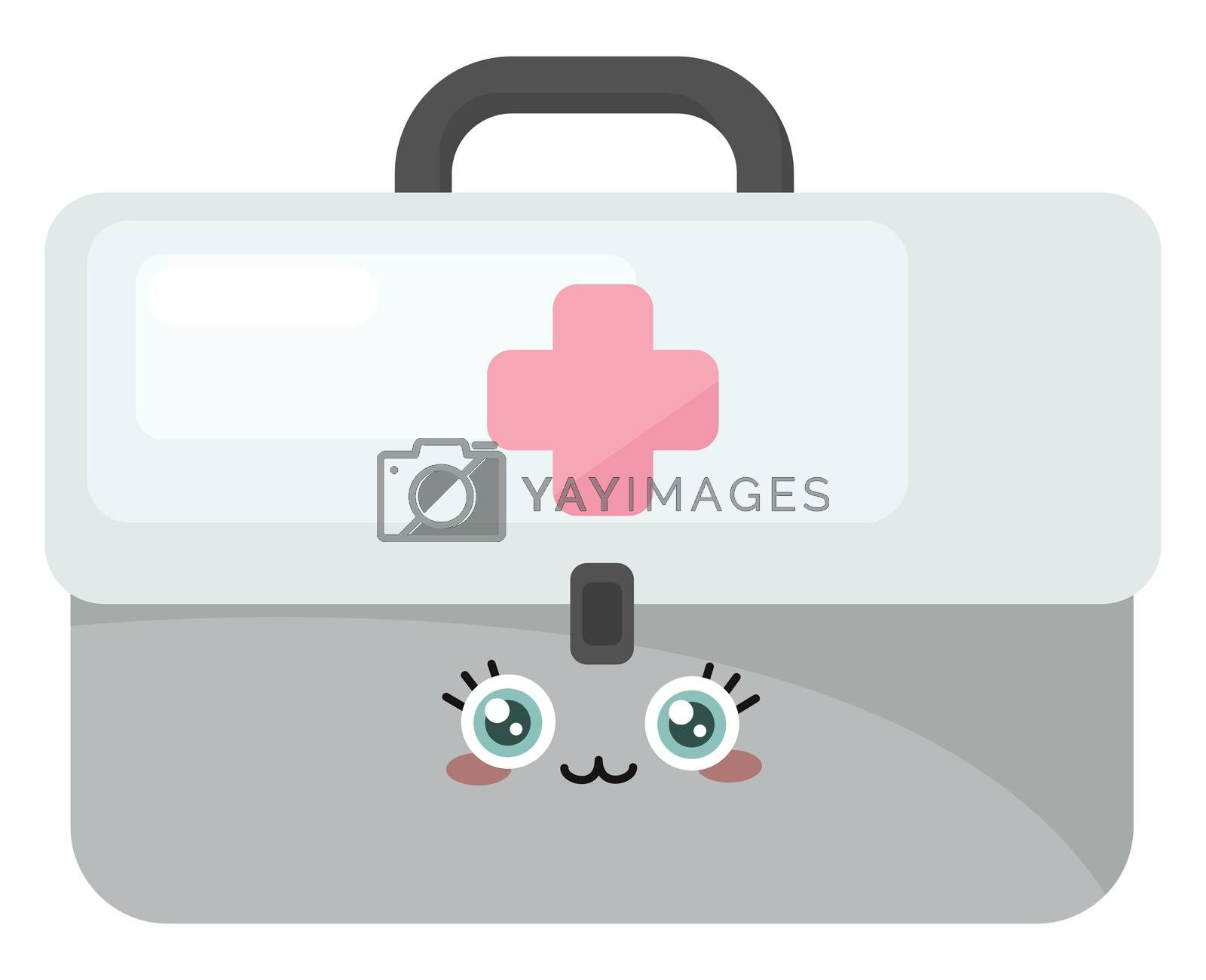 Aid Kit , illustration, vector on white background by Morphart