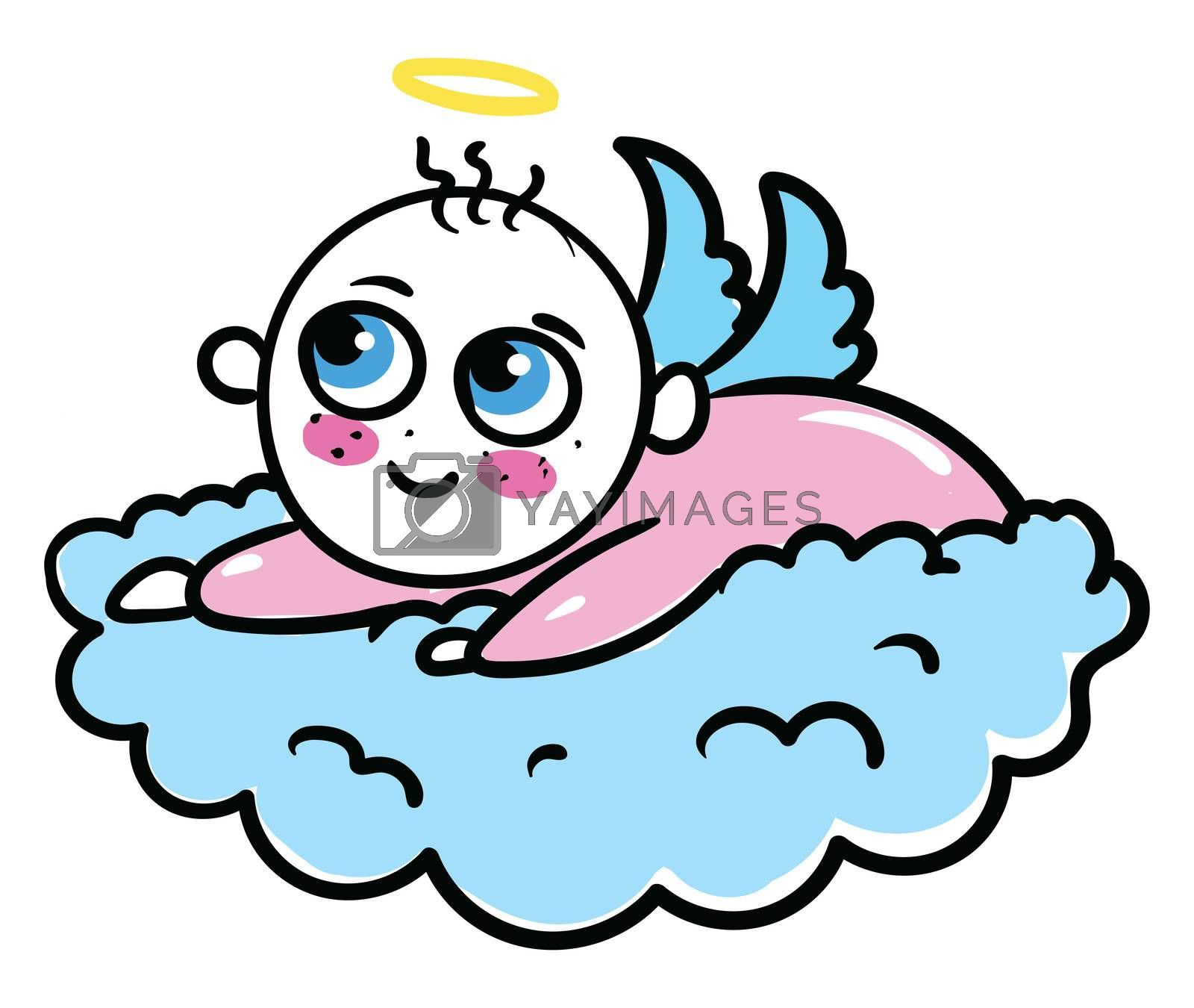 Baby cute angel , illustration, vector on white background
