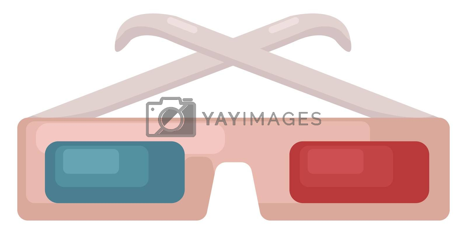 3D glasses , illustration, vector on white background by Morphart