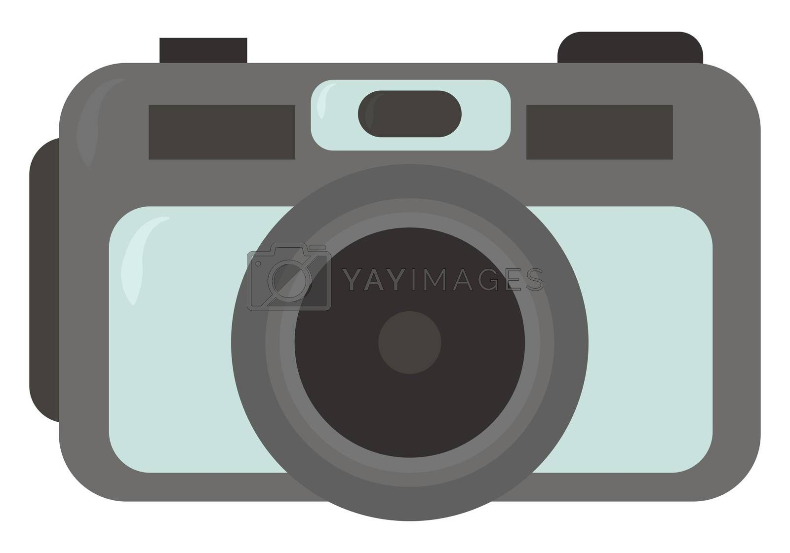 Retro camera , illustration, vector on white background
