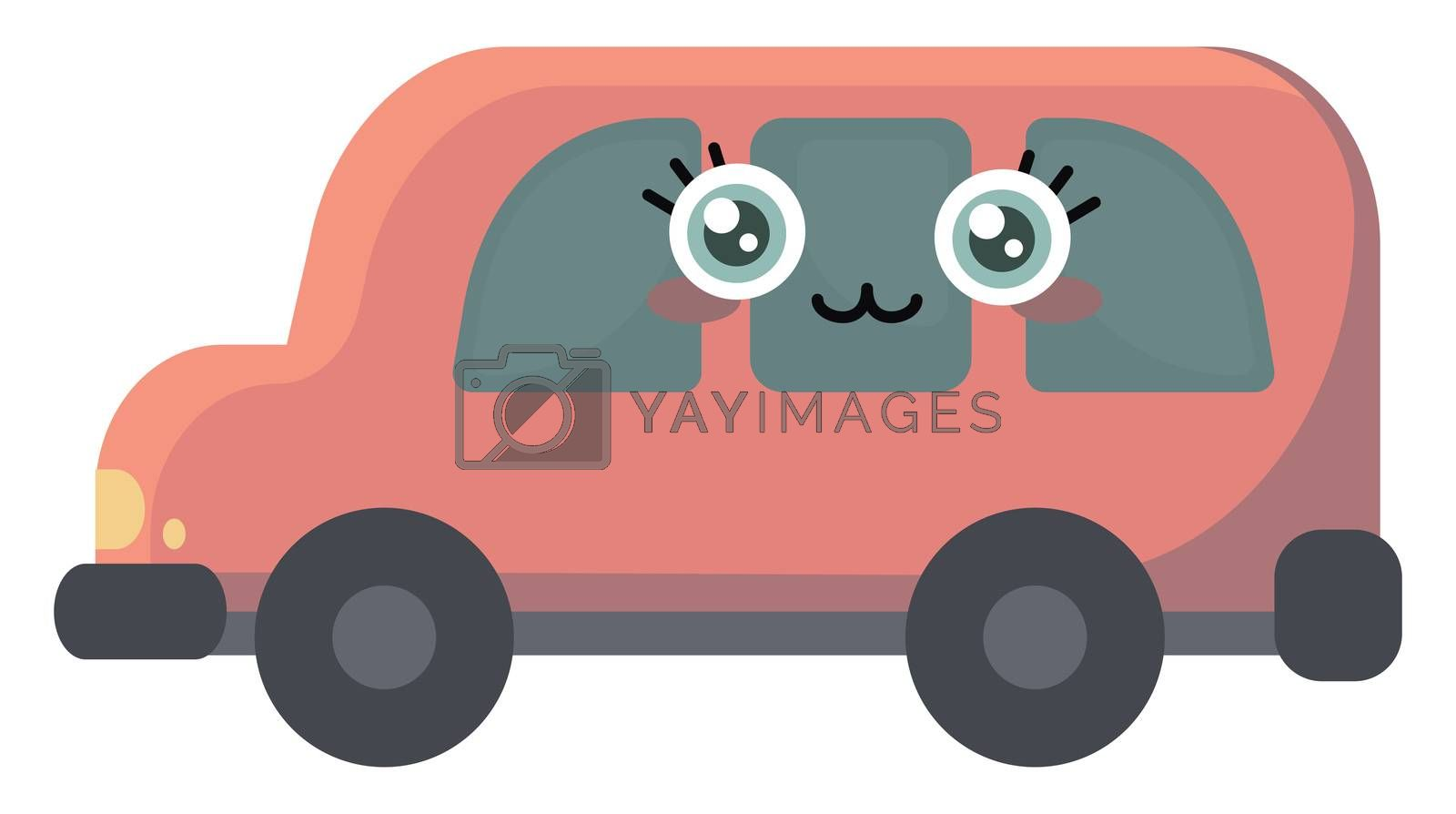 Cute car , illustration, vector on white background