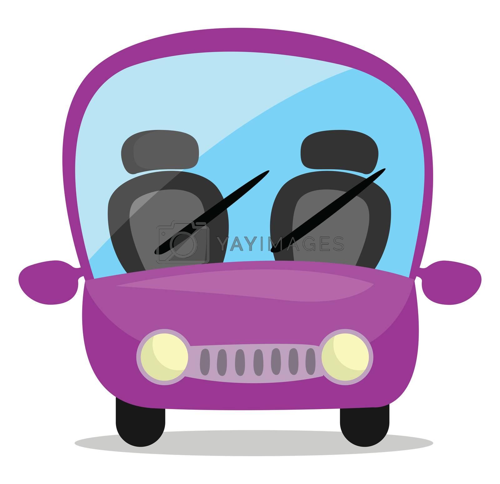 Purple car , illustration, vector on white background