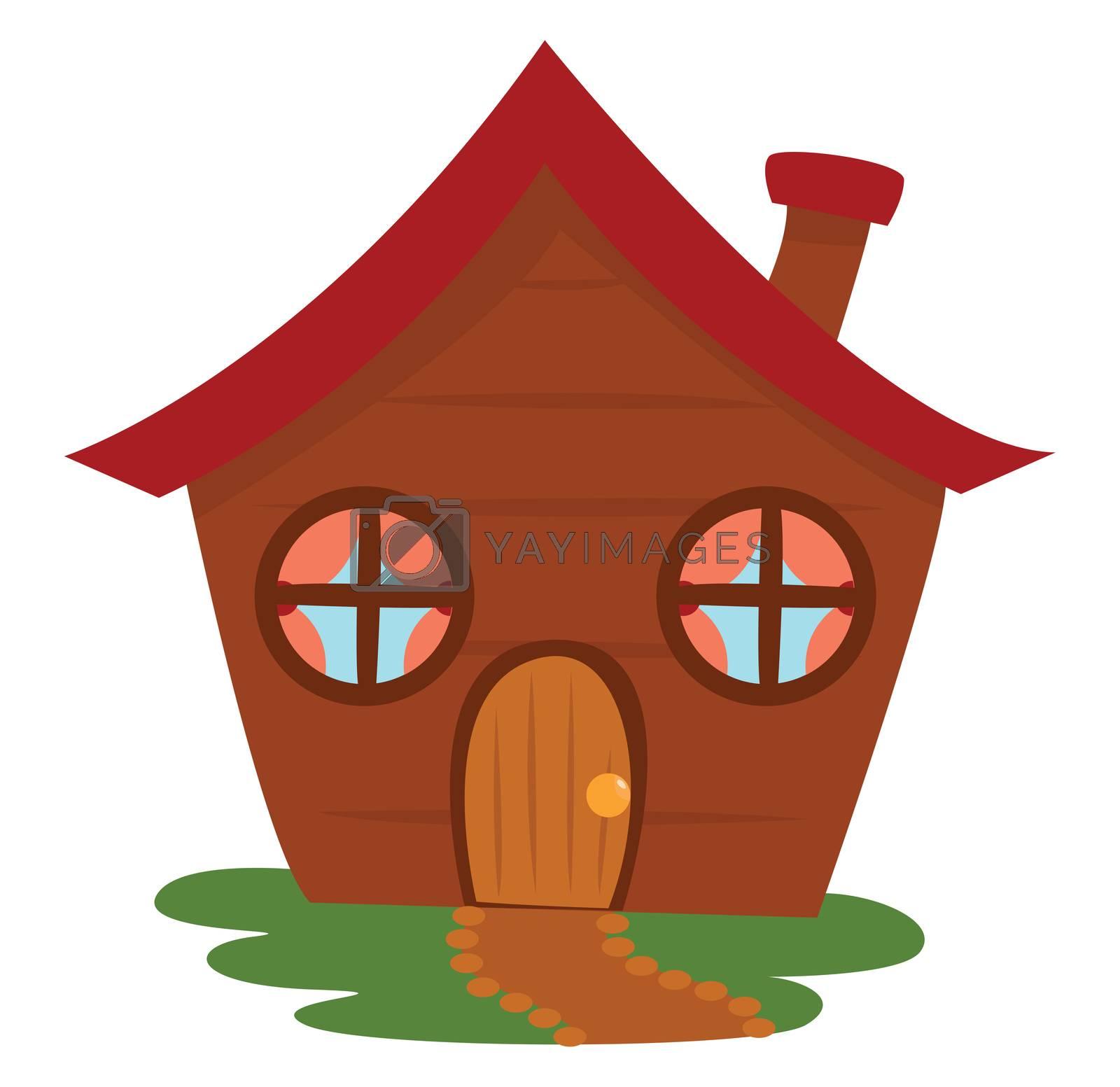 Fairytale house , illustration, vector on white background