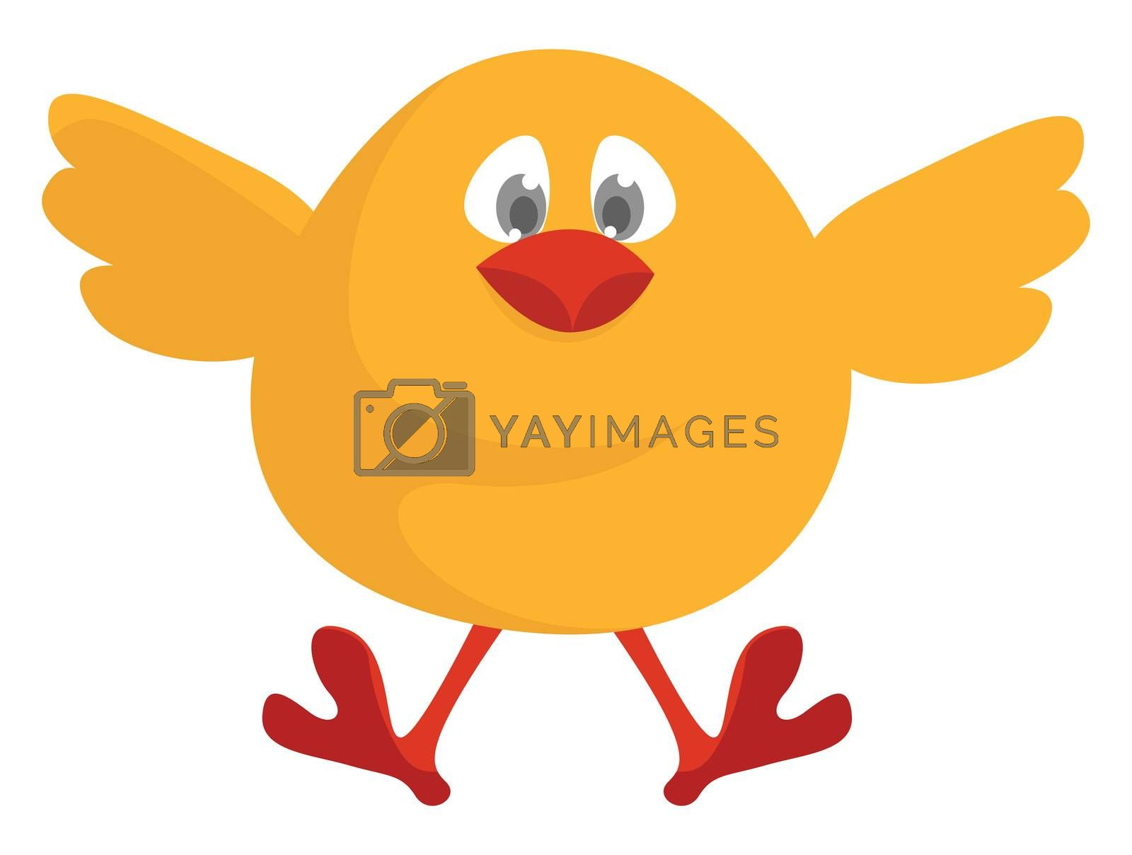 Flying chick , illustration, vector on white background by Morphart