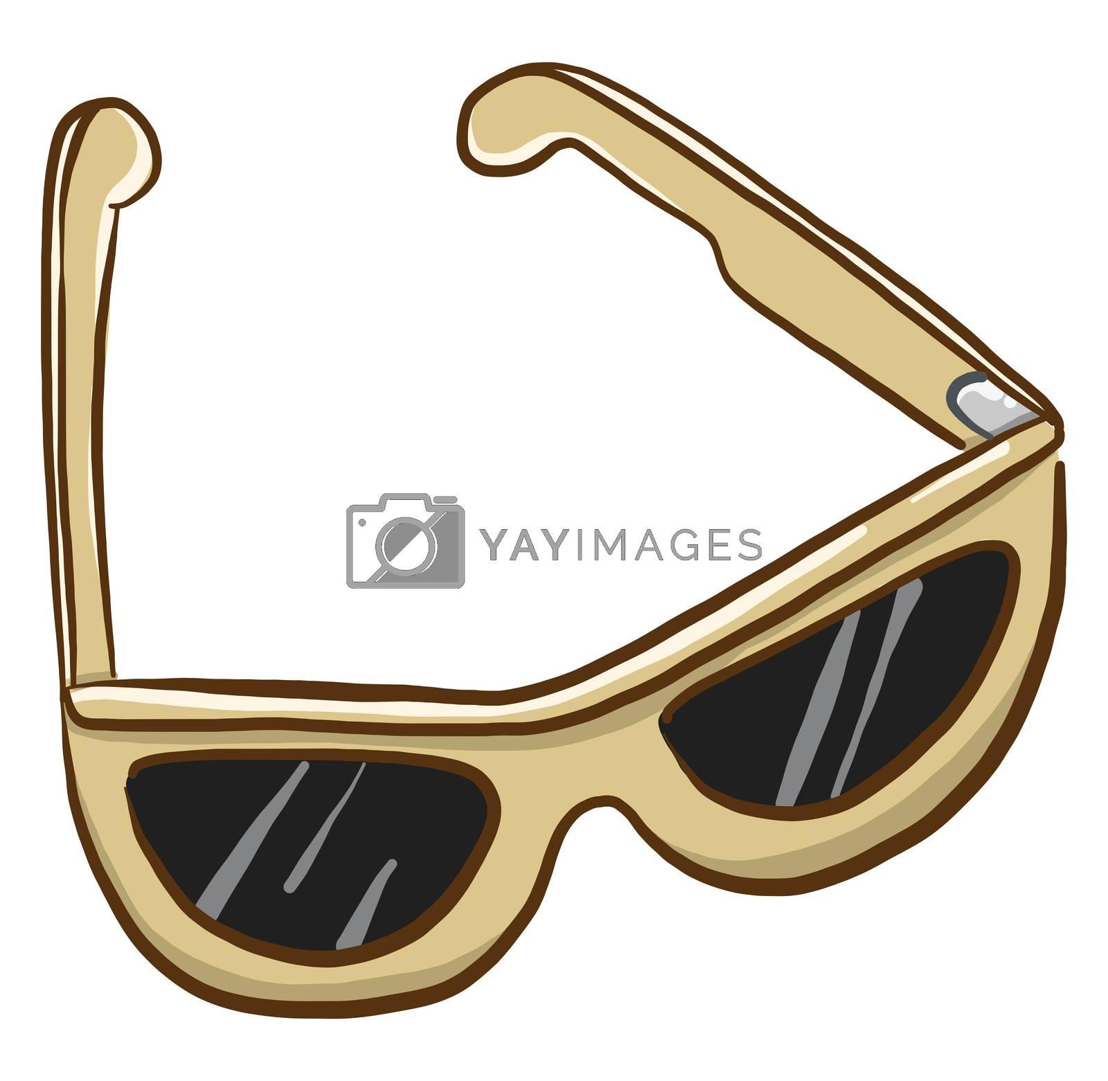 Sunglasses , illustration, vector on white background