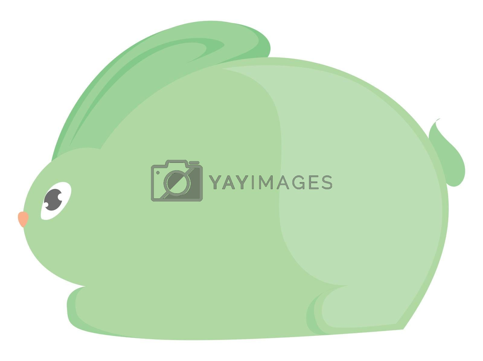 Green hare , illustration, vector on white background