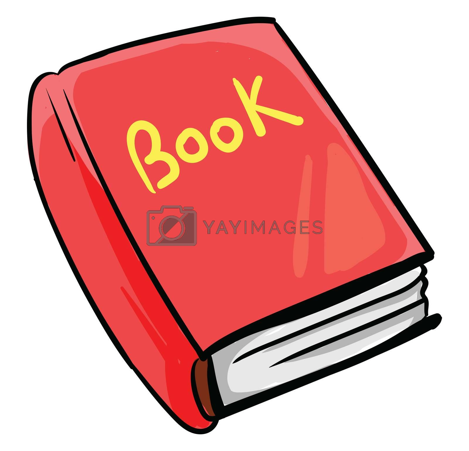 Red book , illustration, vector on white background