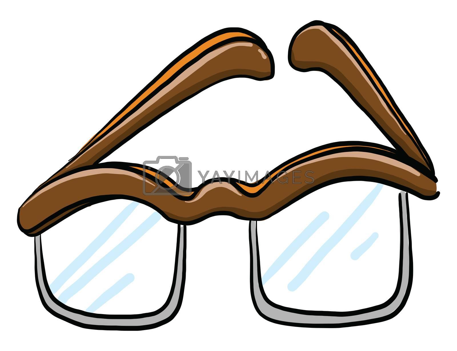 Optical glasses , illustration, vector on white background