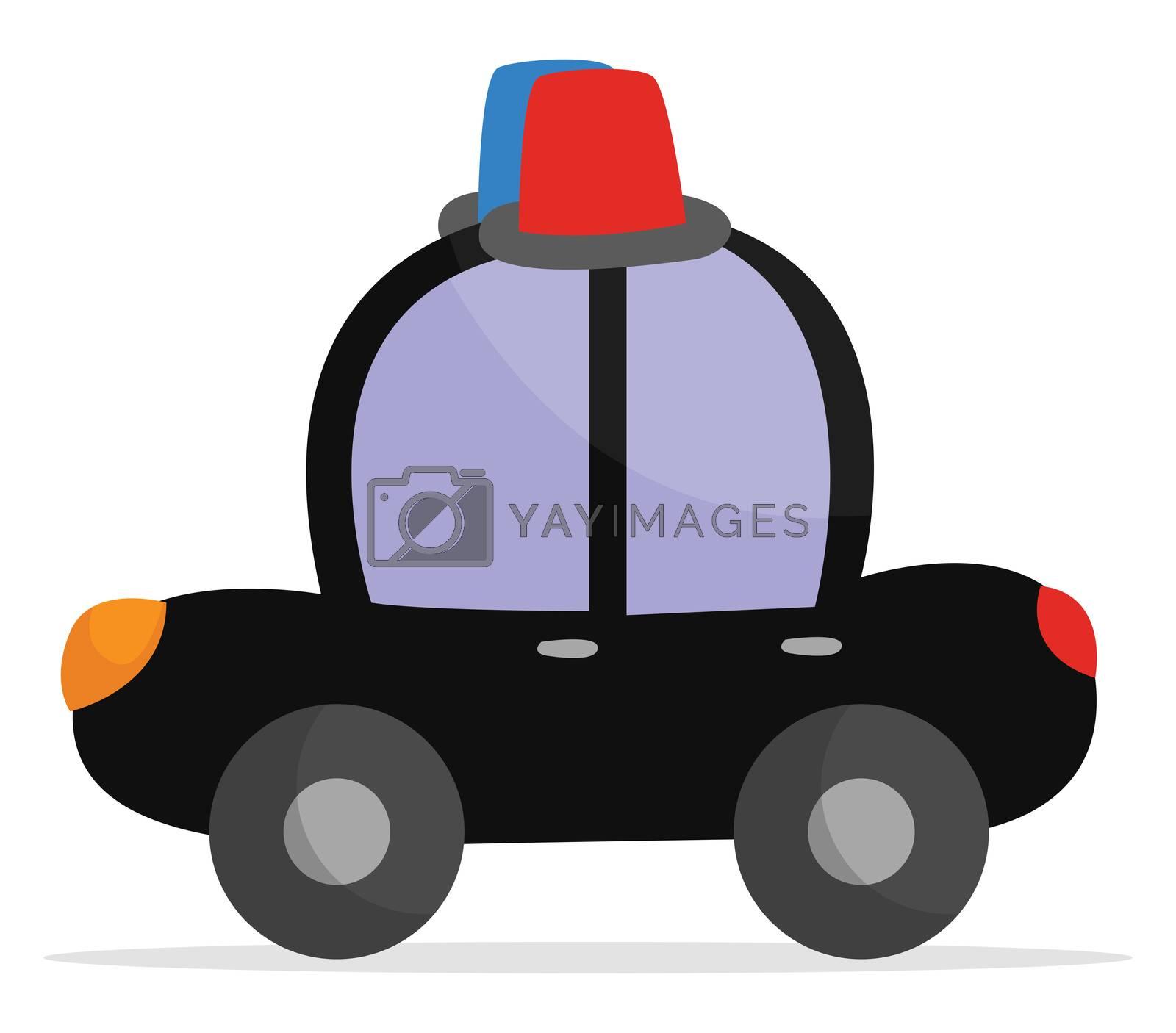 Police patrol , illustration, vector on white background