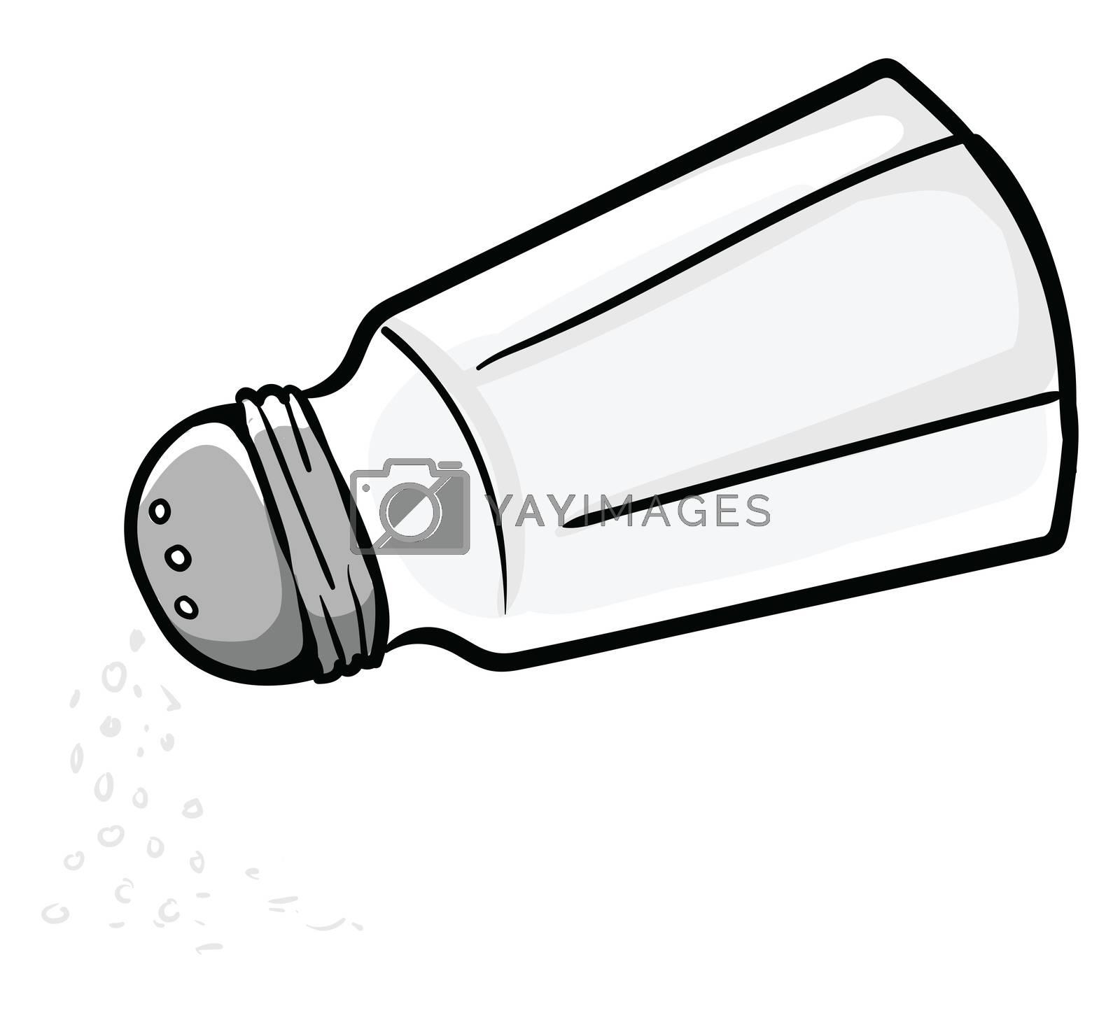 Sprinkle with salt , illustration, vector on white background