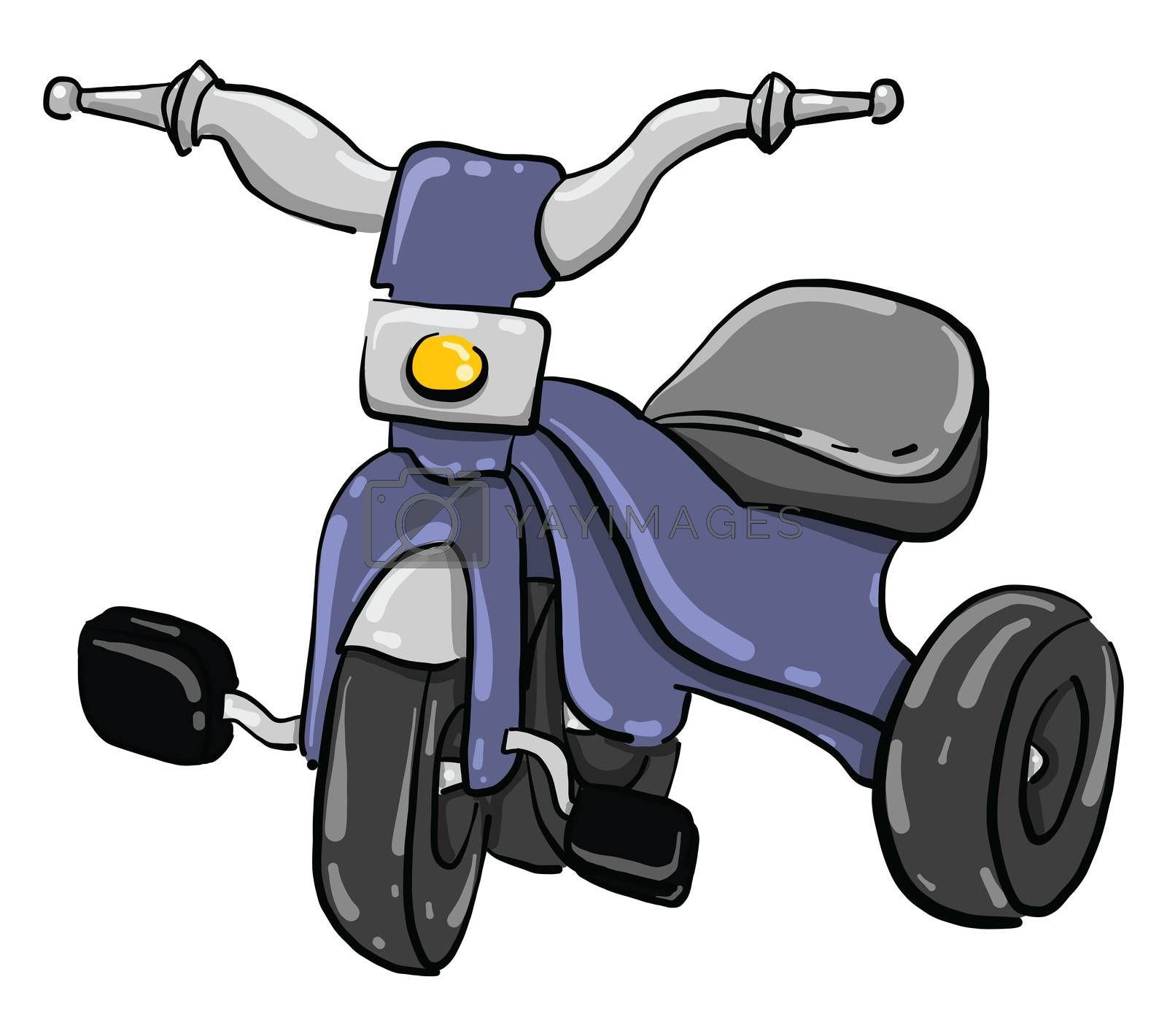 Small bike , illustration, vector on white background