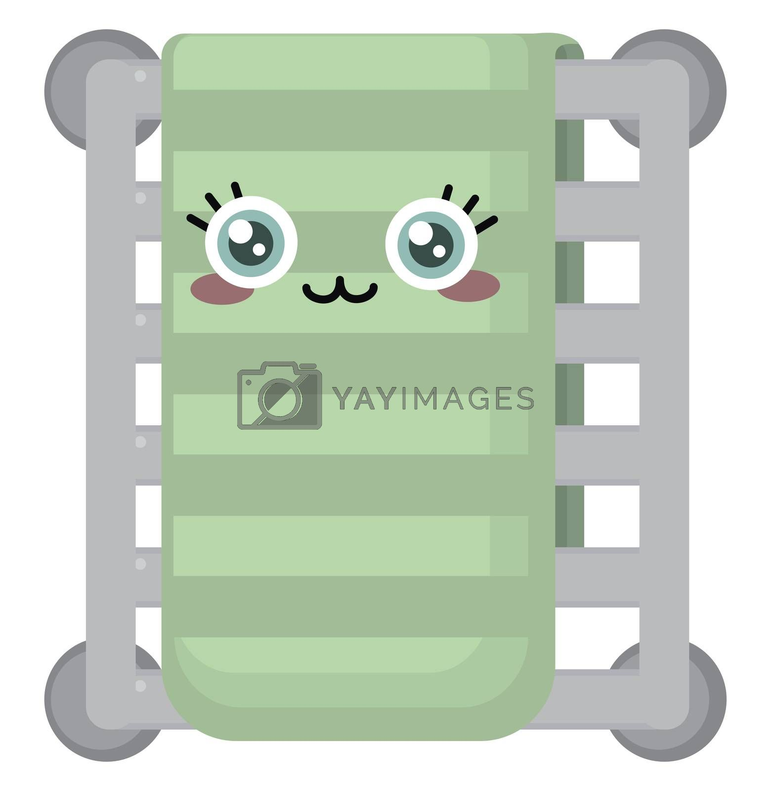 Cute towel , illustration, vector on white background