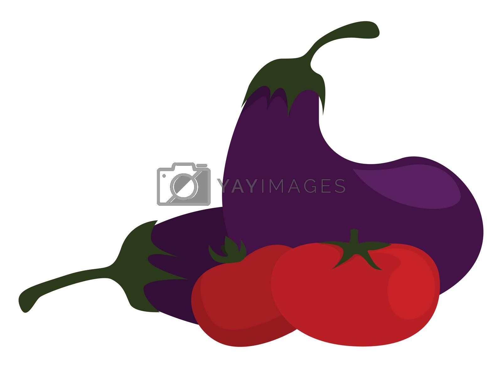 Fresh vegetables , illustration, vector on white background by Morphart