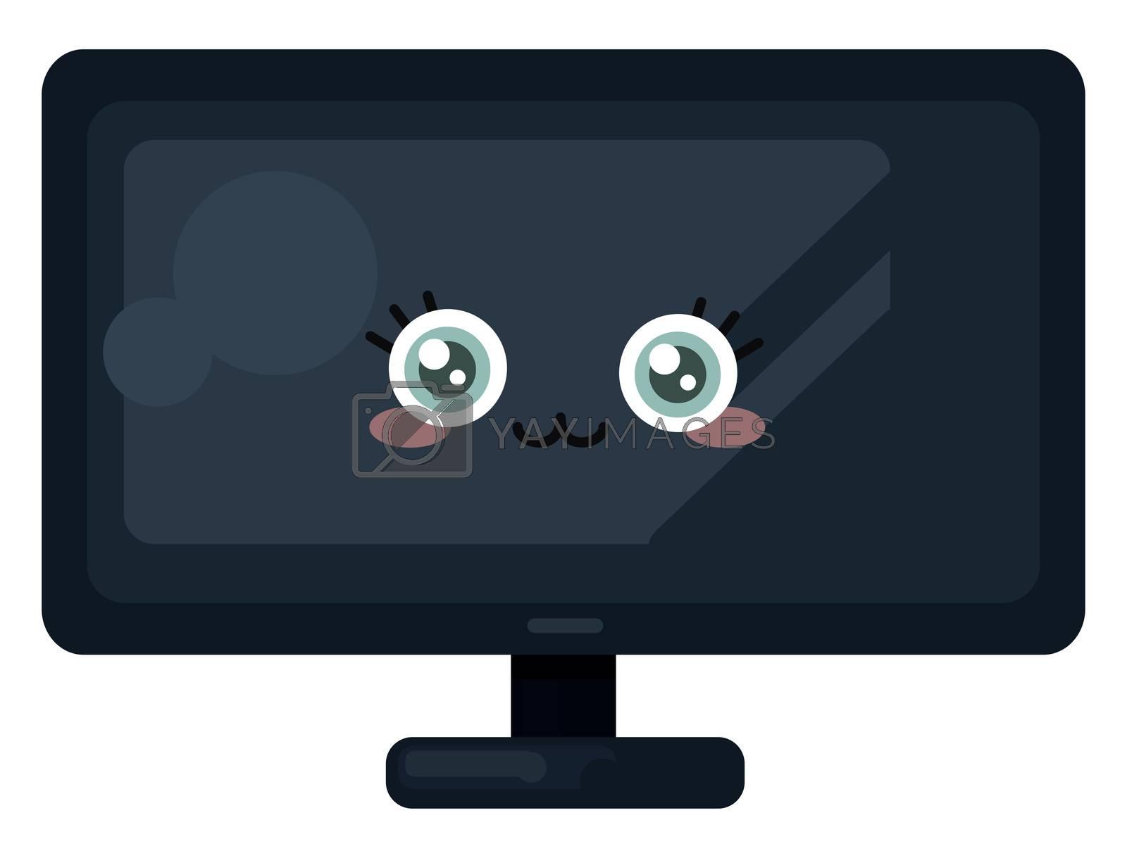 Cute TV , illustration, vector on white background