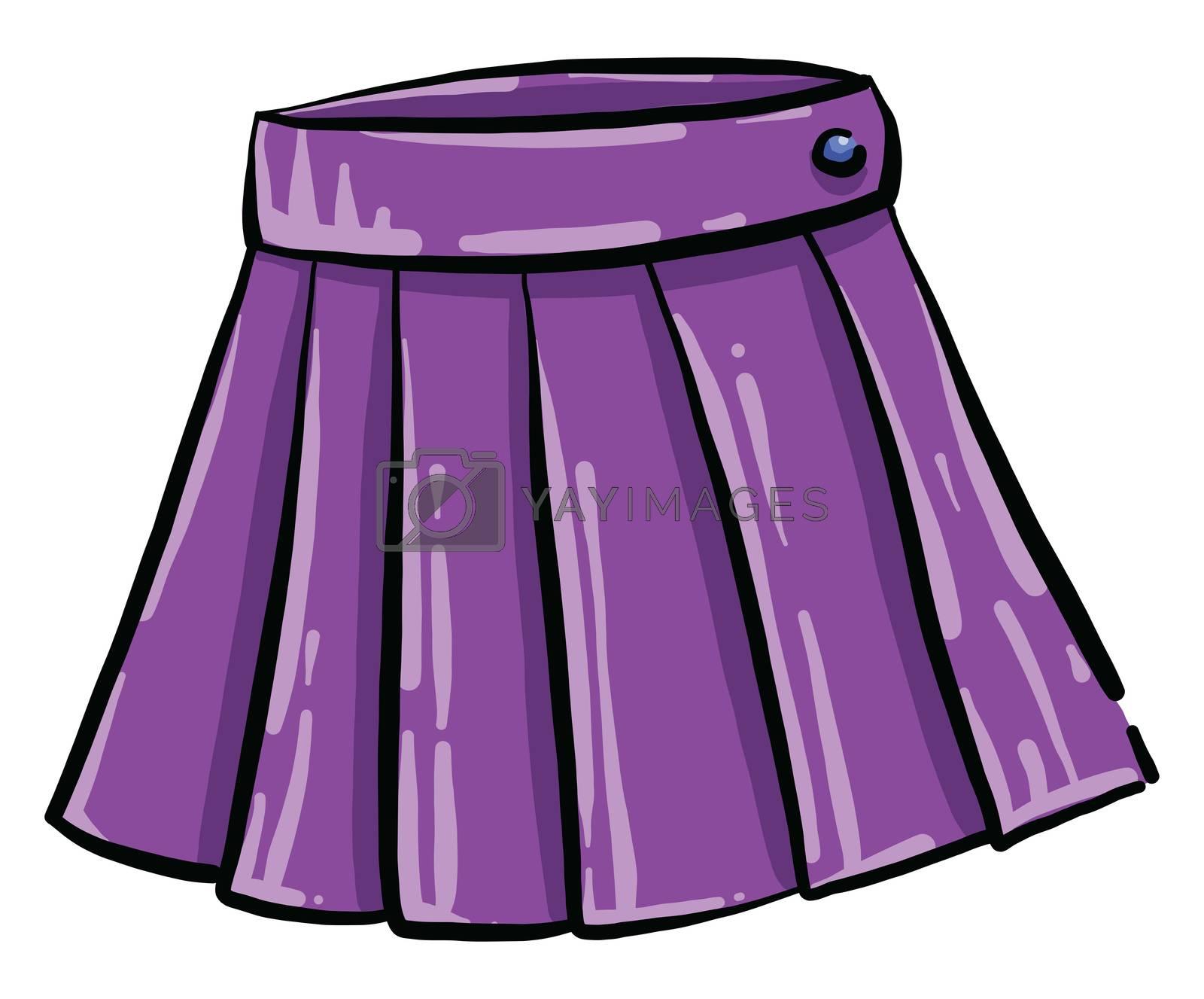 Purple woman skirt , illustration, vector on white background by Morphart