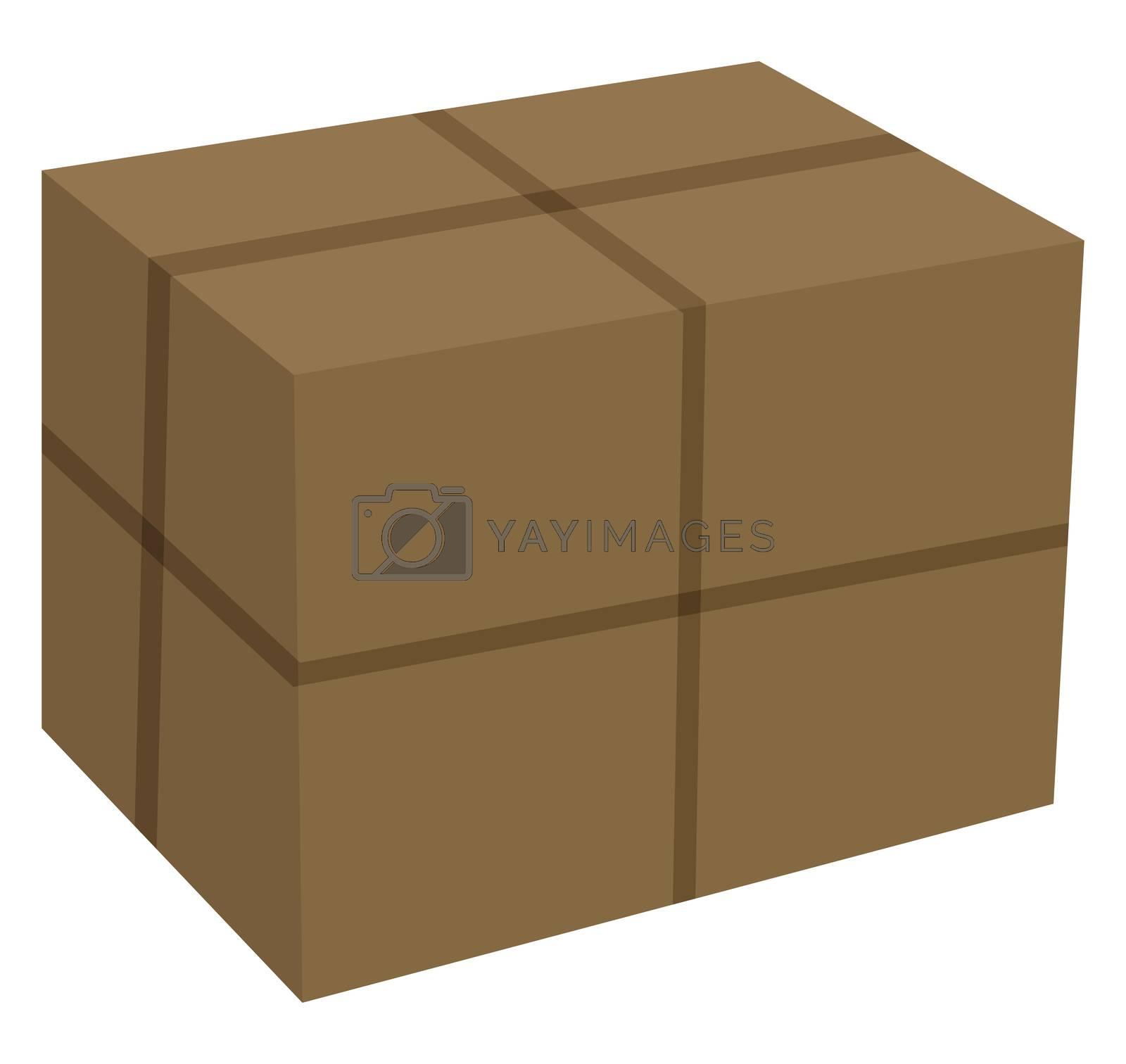 Carton box, illustration, vector on white background