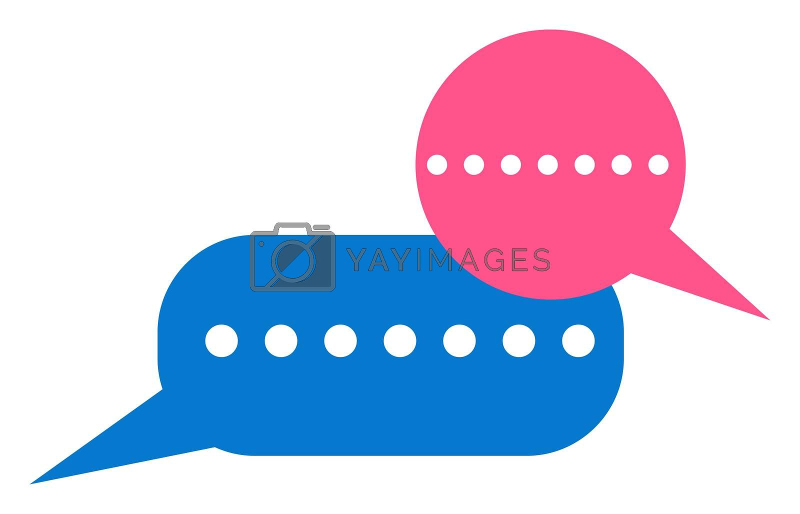 Online chat bubble, illustration, vector on white background by Morphart