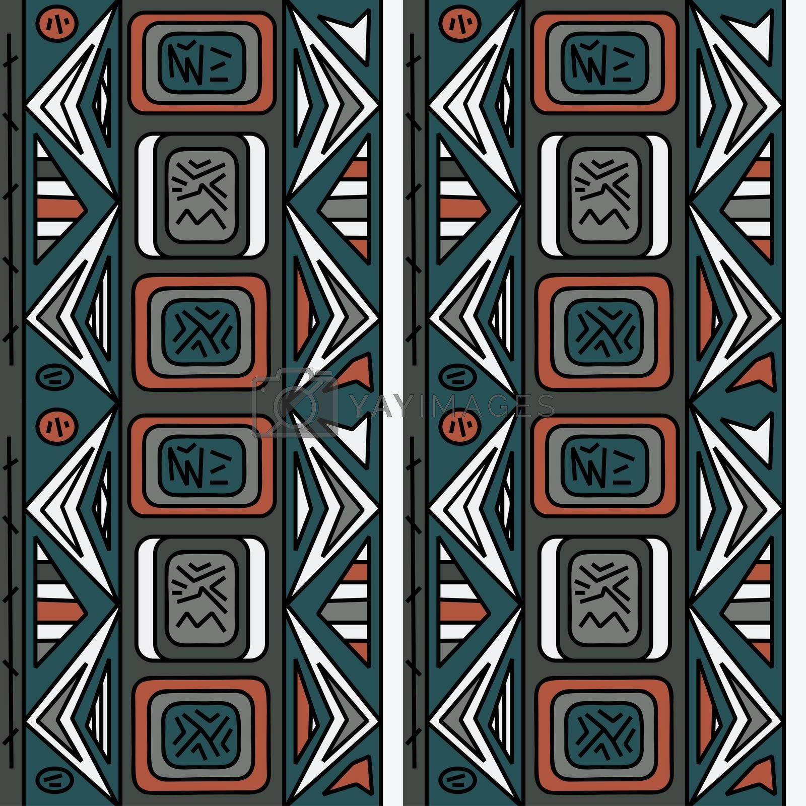 Tribal background, abstract ethno pattern. Pattern can be used for wallpaper, web page background, branch, cards, apparel, poster, mugs, bags, packaging ,others. Bright vector tribal texture.
