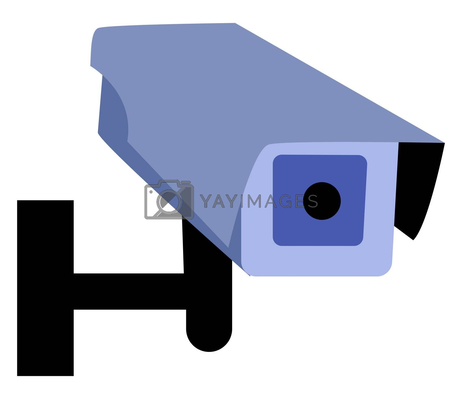 CCTV Security camera, illustration, vector on white background by Morphart