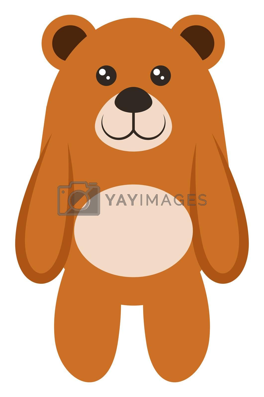 Teddy bear, illustration, vector on white background