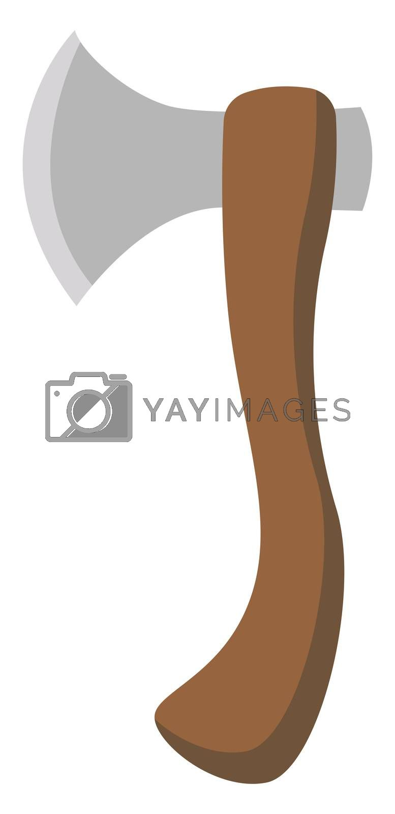Brown ax, illustration, vector on white background