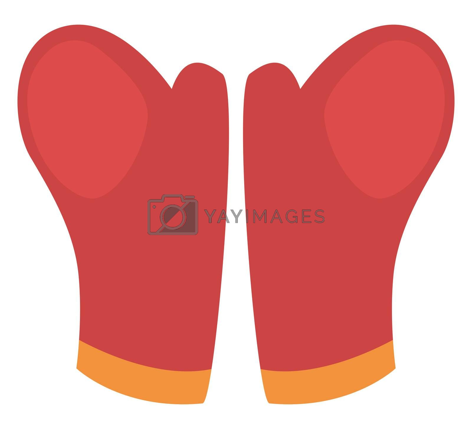 Winter gloves, illustration, vector on white background