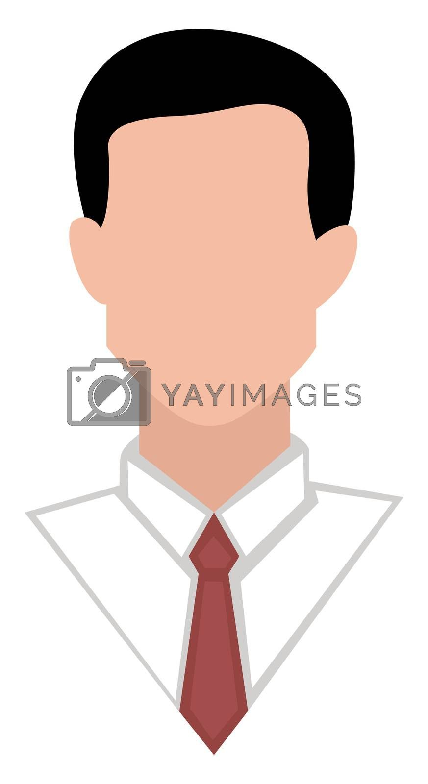 Faceless avatar, illustration, vector on white background
