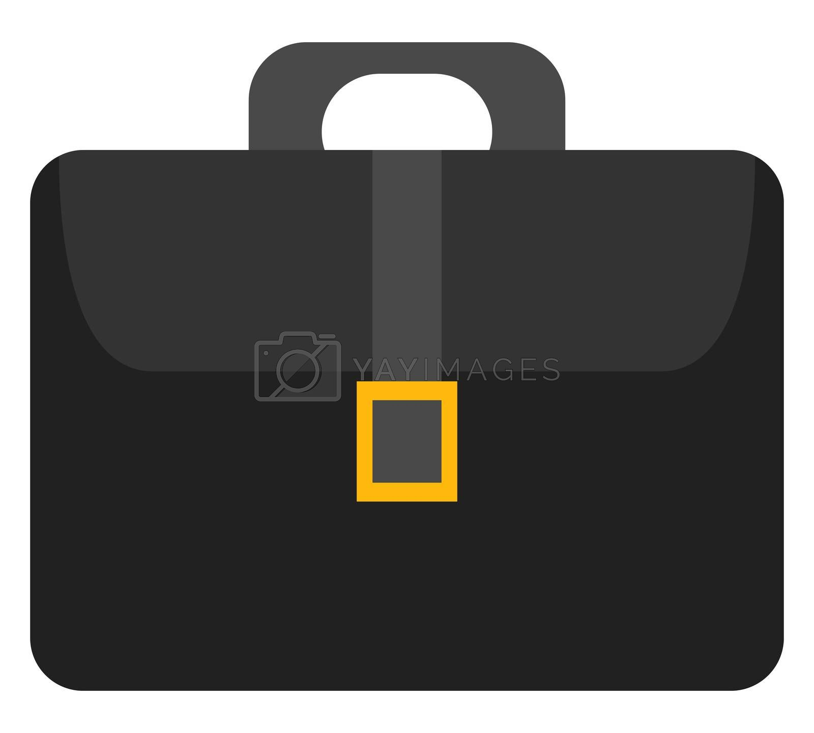 Black business bag, illustration, vector on white background