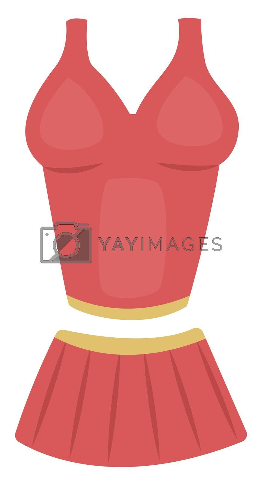 Pink woman clothes, illustration, vector on white background