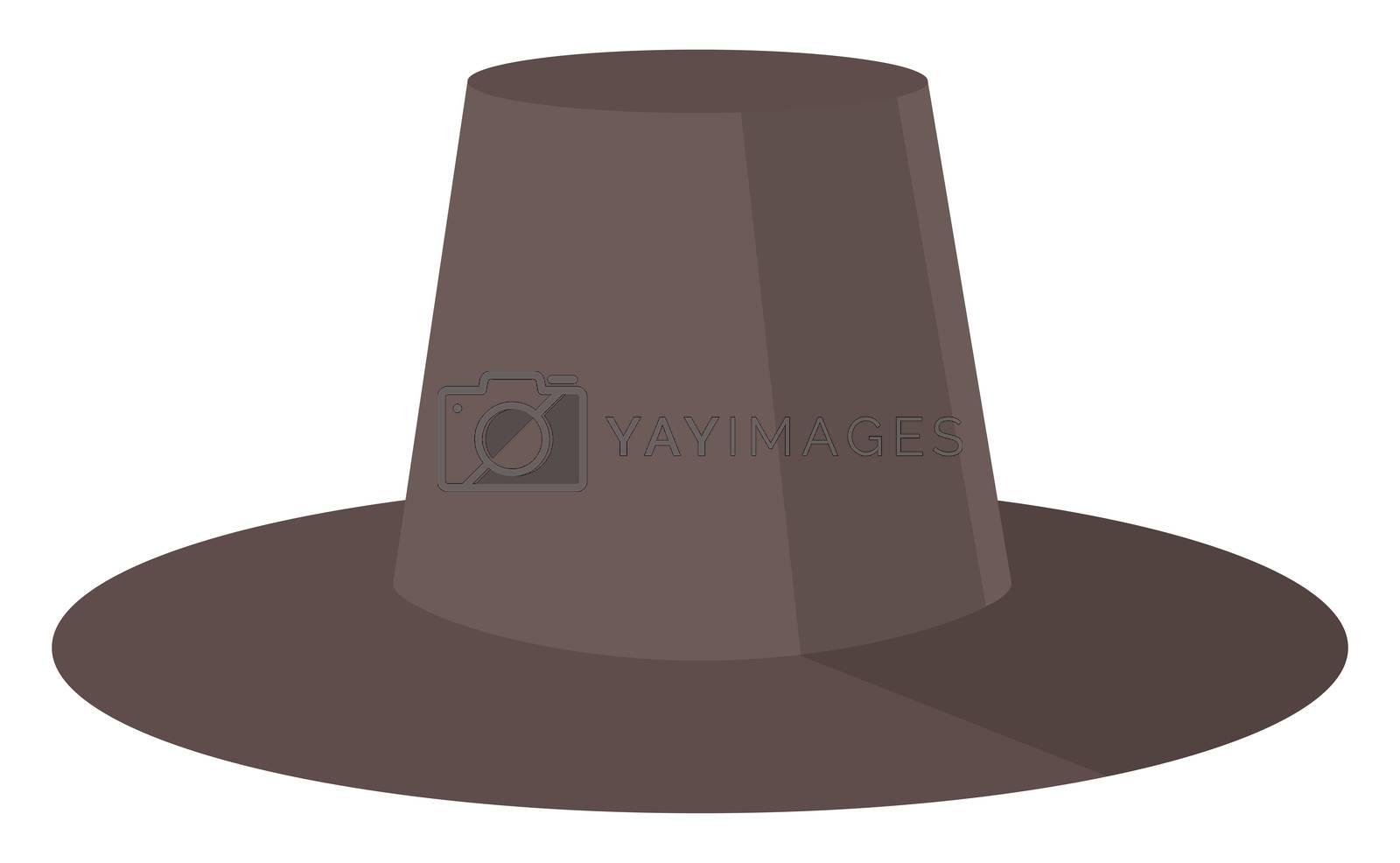 Man black hat, illustration, vector on white background