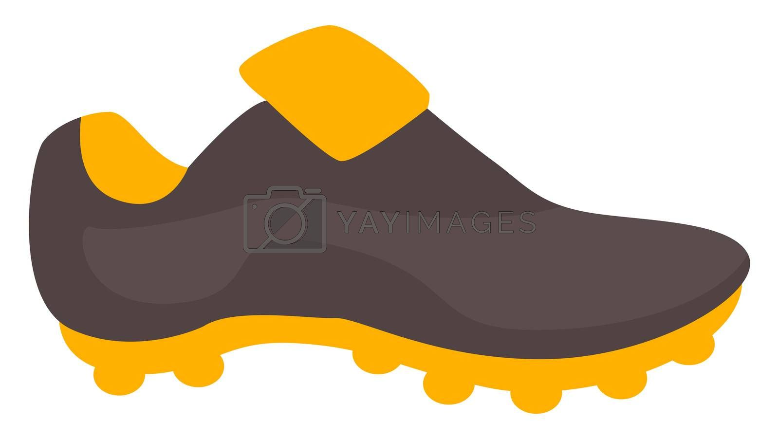 Football sneaker, illustration, vector on white background