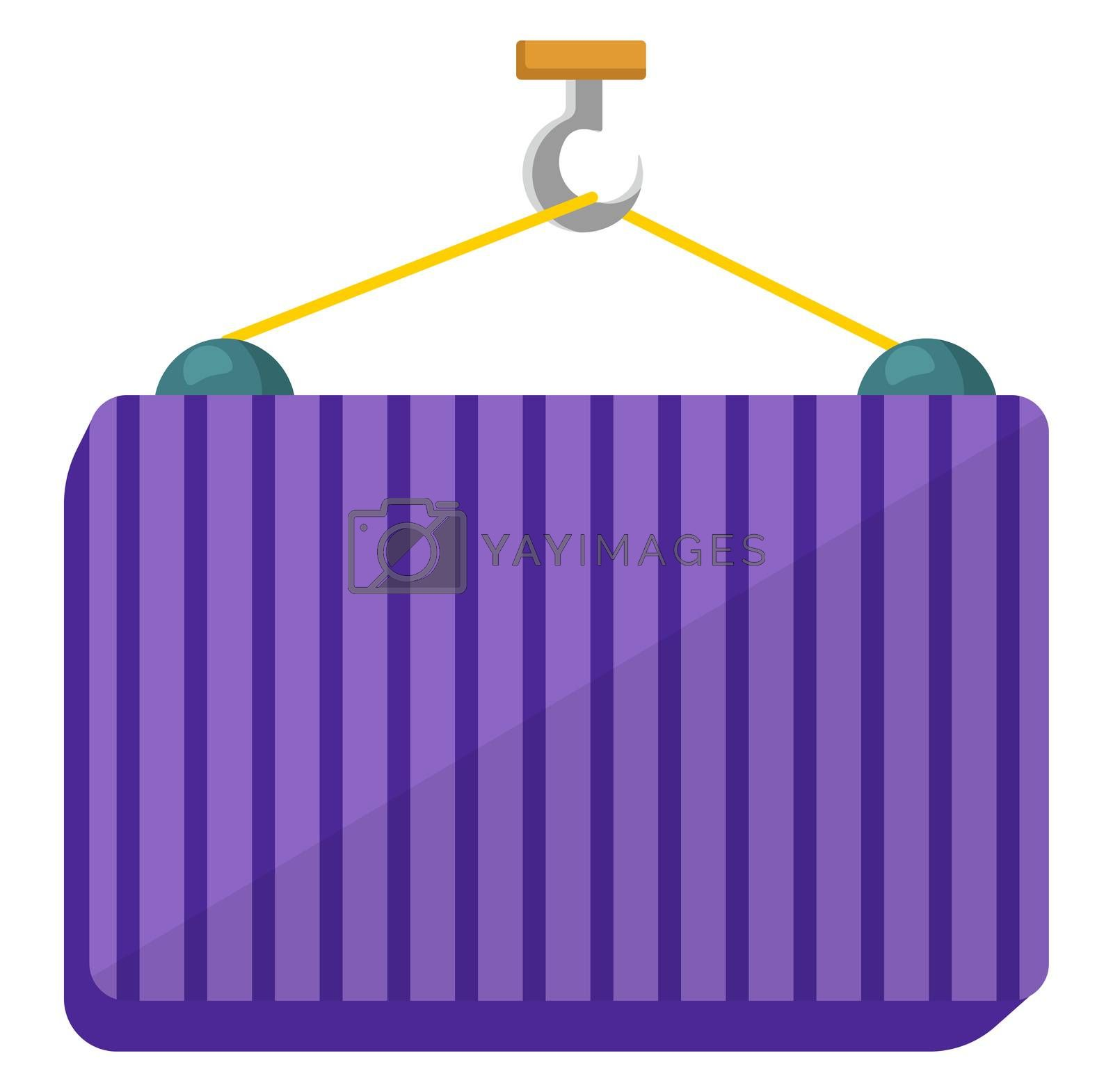 Big shipping container, illustration, vector on white background