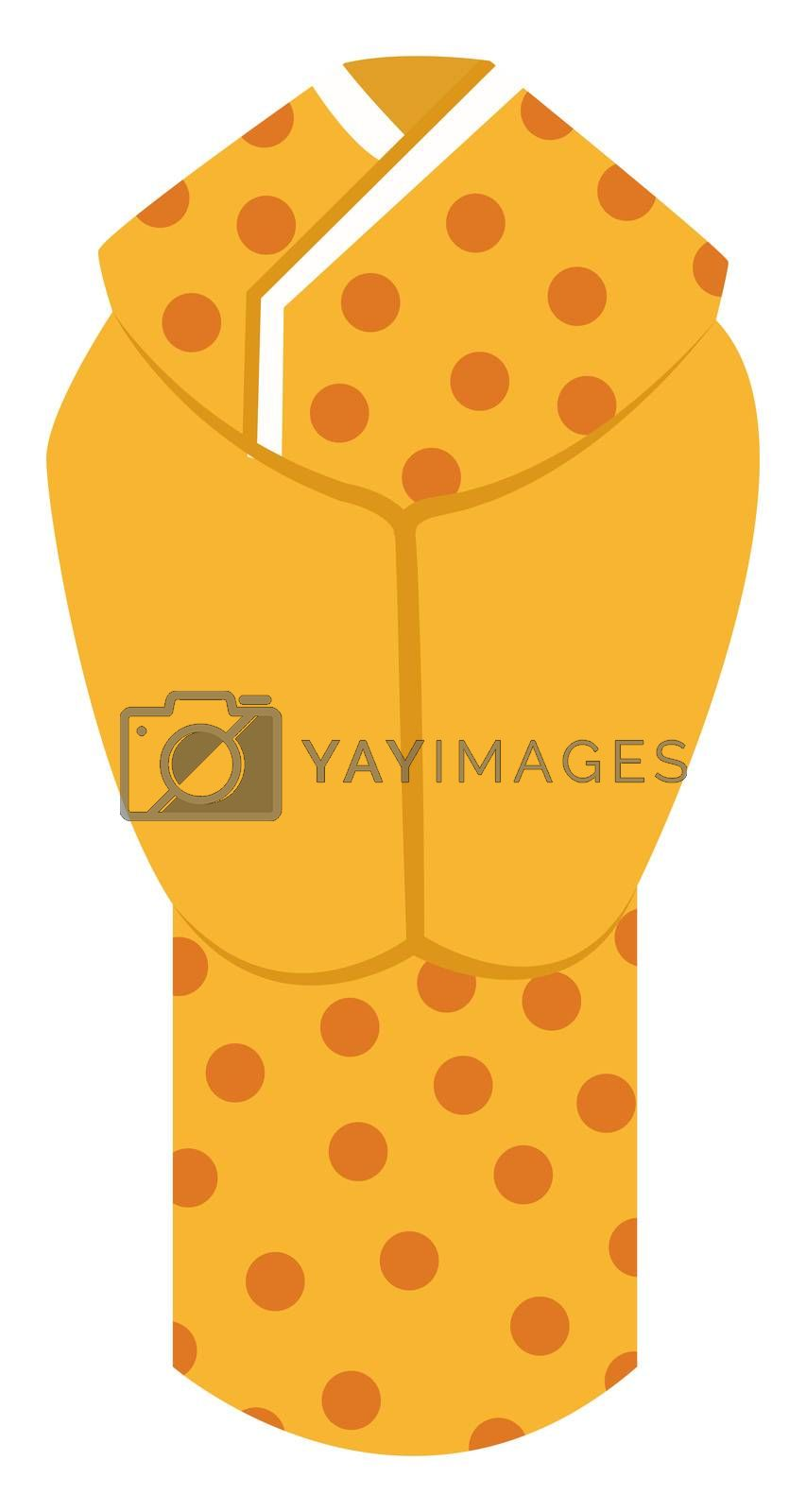 Woman chinese suit, illustration, vector on white background