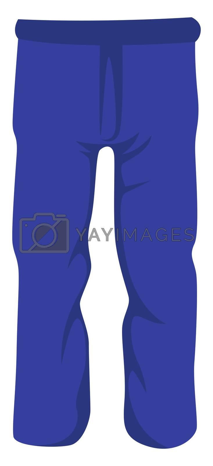 Man blue jeans, illustration, vector on white background